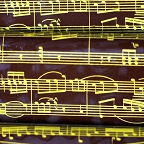 Golden Musical Notes Includes 25 Sheets 10 in x 15.75 in Pre-Printed YummyArt Chocolate Transfer Sheets