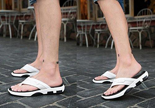 2017gamuza Splicing Clip Toe Flip Flats simple verano sandalias antisdrucciolevoli Sandalias Casual zapatos de hombre, 1, 43