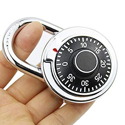 2e34a9214056 Lock Small - Silver Black Alloy Safe Turntable Password Lock Package ...