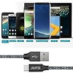 Jufd-Cavo-USB-C-4-Pezzi05M1M2M3M-Nylon-Cavo-USB-Type-C-Ricarica-Rapida-e-Trasferimento-USB-Tipo-C-Cable-per-Samsung-S8-S9-Note-8Huawei-P10Mate20Mi-A1G6Honor-10