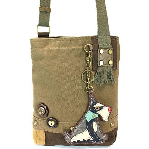 Olive Schnauzer Bag Crossbody Patch Chala WFC1UqRTR