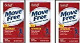 3 Bottles Schiff Move Free Advanced Triple Strength, Clinically Tested Premium Formula, 3 Packs