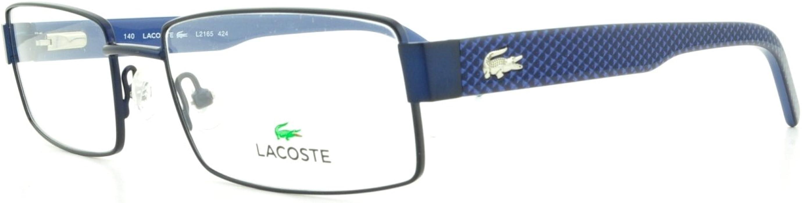 627bb1beb37 LACOSTE Eyeglasses L2165 424 Blue 54MM at Amazon Men s Clothing ...