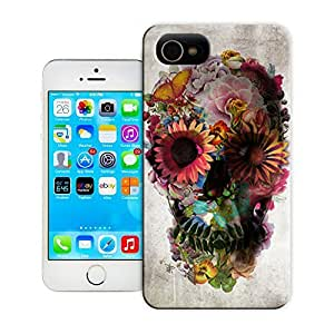 Unique Phone Case Skeleton skull head arts map Such a beautiful skull Hard Cover for 4.7 inches iPhone 6 cases-buythecase