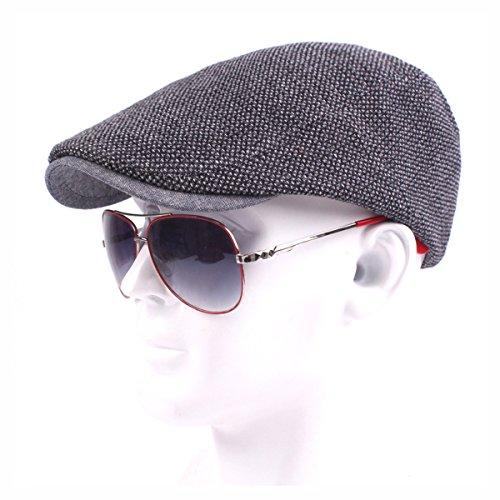 OULII 綿のレトロキャップの男性のための帽子キャップ春秋(グレー)