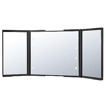 PLEMO Miroir Triptyque de Maquillage avec Lumières LED, Miroir ...
