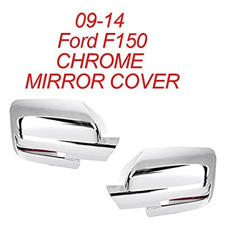 Amazon Com Smd   Ford F Chrome Side Mirror Covers Cover W Signal Cut  Automotive