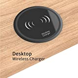 Fast Desk Wireless Charger for iPhone X/8 Plus/amsung Note 8 S8 All Qi-Enable Devices,Fit for 2.7''/2.4'' Office Tables Desk Grommet Hole on Office Conference Tables with Power Cable(10W)