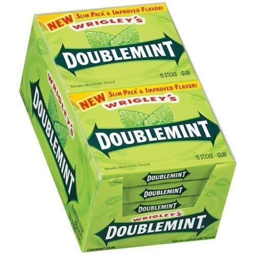 (Wrigley - Doublemint, Slim, 15 stick pack, 10 count by Wrigley [Foods] by Wrigley's)