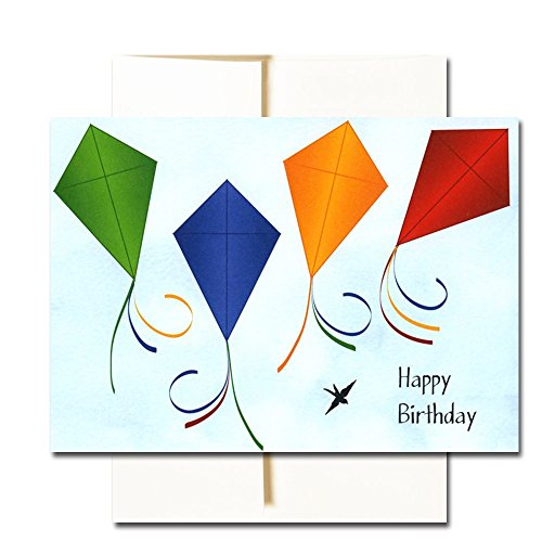 Happy Birthday Cards  Assortment - Box of 30 Blank Note Cards - 6 Colorful Designs - and 32 Envelopes Photo #5