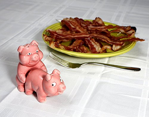 Salt And Pepper Shaker Set. Best For Restaurant, Cafe, Dining Room, Home Kitchen Table Kit. Naughty Pigs 3 x 2 x 3 inches