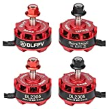 quad copter brushless motor - DLFPV 4pcs DL2305 2600KV Brushless Motor 2-4S for X210 X220 250 300 FPV Racer Drone Quadcopter 2CW 2CCW in Red