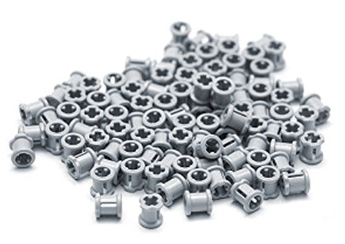 Cross Axle - LEGO Technic NEW 100 pcs LIGHT BLUISH GREY BUSH Bushing Cross Axle Connector Mindstorms NXT EV3 robot robotics motor building small Part Piece 3713