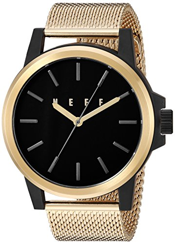 neff Chinese-Automatic Sport Watch with Alloy Strap, Gold, 25 (Model: GDBKNF0251)