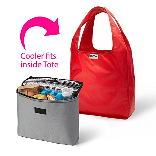 rume-bags-mini-tote-with-2cool-insulated-lunch-bag-cooler-set-of-2-crimson