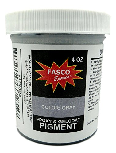 (Gray Pigment for Epoxy Resin, Gelcoat, Paint, Latex - 4 oz)
