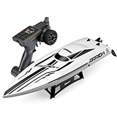 The UDI005 Arrow Brushless RTR RC Boat with impressive features which is suitable for adults to play indoors and outdoors, whether it's your backyard pond or lake, neighborhood swimming pool, or even the ocean.Features:Rc Boat with Water Proo...
