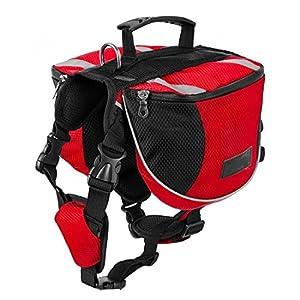 Dog Saddle Bag Hound Travel Pack Camping Hiking Backpack Medium Large Size By Hi Suyi