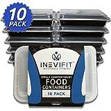 INEVIFIT Meal Prep Single Compartment BPA FREE, Premium Food Storage ...