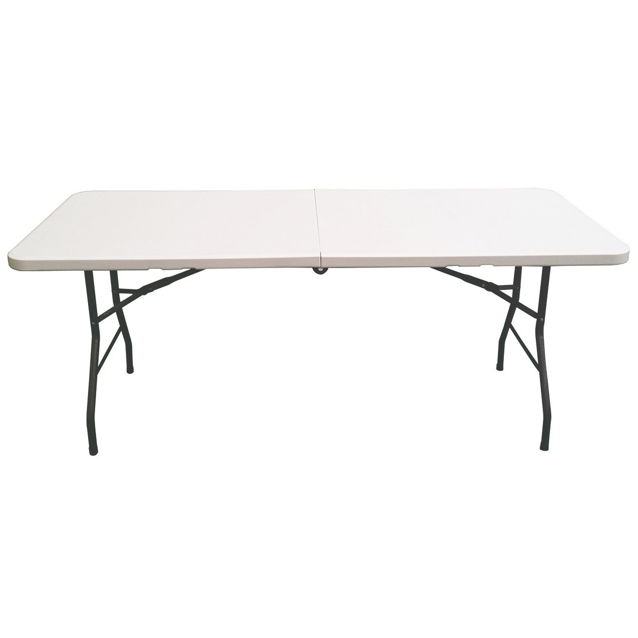 UPTO 400KG LOAD CAPACITY OYPLA 6FT HEAVY DUTY TRESTLE WHITE FOLDING BANQUET PARTY GARDEN OUTDOOR /& INDOOR CAMPING PORTABLE TABLE EXTRA STRENGTH