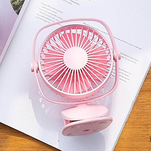 yuhe Handheld Desk Fans Mini USB Charging Clip Table Fans 3 Speeds 360 Degrees Rotation for Stroller Car Office by yuhe (Image #3)