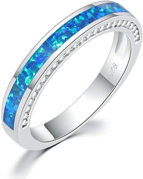 Healing Point Star Blue Fire Opal Silver Women Jewelry Gems Ring Taille 6-8 LR6877