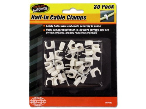 30 Pack Nail-in Cable Clamps Sterling BWSMP030