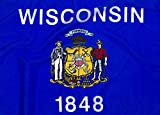 5x8ft Wisconsin Flag - Highest Quality Outdoor Nylon
