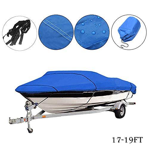 - MASO Heavy Duty Boat Cover 17-19ft 210D UV Protected Waterproof Speedboat Fish-Ski V-Hull Cover Bag