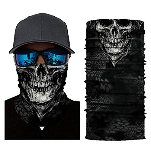 Price comparison product image Scary Face Mask Binmer Women Men Cycling Outdoor Head Scarf Neck Windproof Face Mask Sun protection Headband (D)