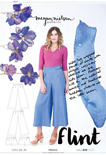 Megan Nielsen Ladies Sewing Pattern 2210 Flint Cropped Pant & - Pattern Flint