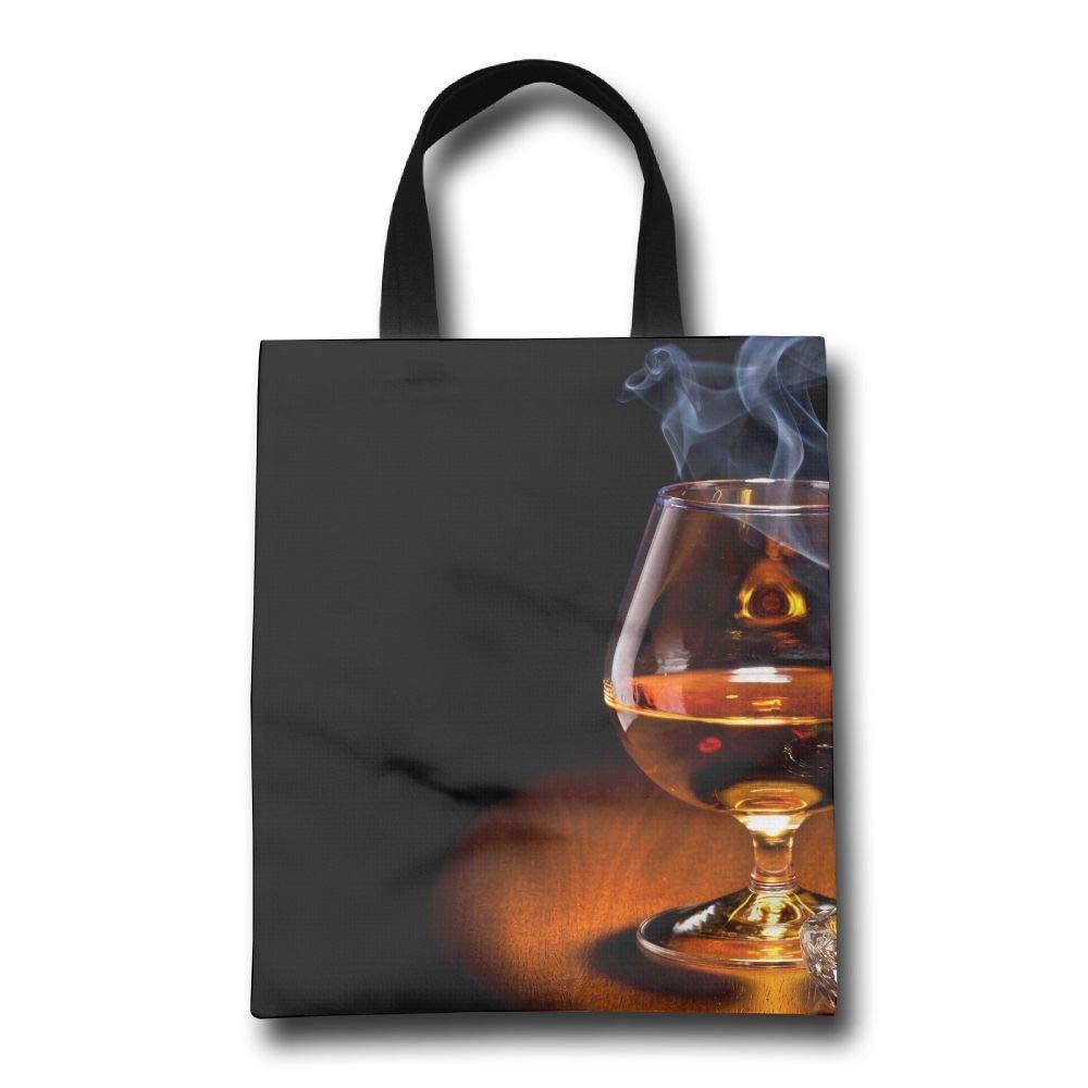 Lqzdqa ウイスキー 壁紙 ファッション 再利用可能 ショッピングバッグ エコフレンドリー 耐久性 B07GSLV1PY