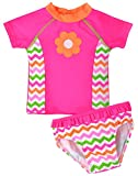 Fiream Summer Little Girls Cute Colorful Rainbow 2 Piece Swimsuit