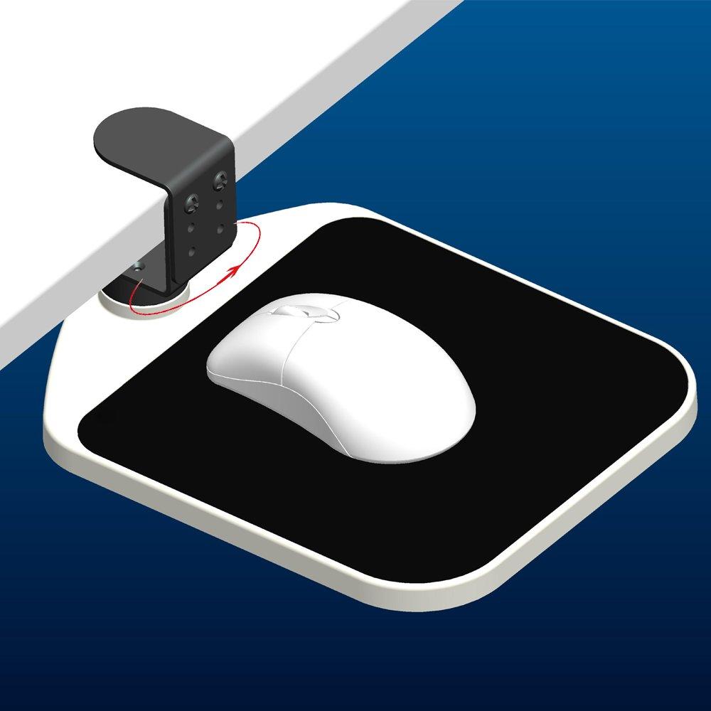 SKYZONAL Ergonomic Mouse Platform Under Desk Ergonomic Wrister Mouse Pad (Black)
