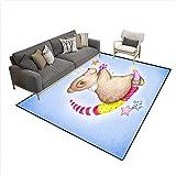large teddy bear 10 feet - Kids Carpet Playmat Rug Watercolor Cute Teddy Bear on Blue Paper Background 6'6