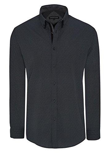 Maschile Maniche Xs Cotone 5xl Per Della Tarocash Uscire Gotham Intelligente Forma In Camicia Taglie Nero Occasionwear Stampa Della Lunghe Regular wvY6OxRd