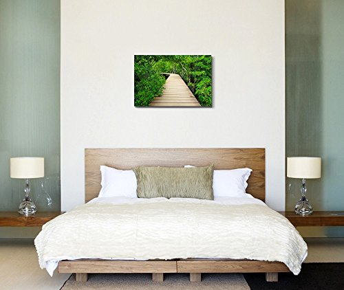 Wooden Bridge to The Jungle Tha Pom Mangrove Forest Krabi Thailand Home Deoration Wall Decor