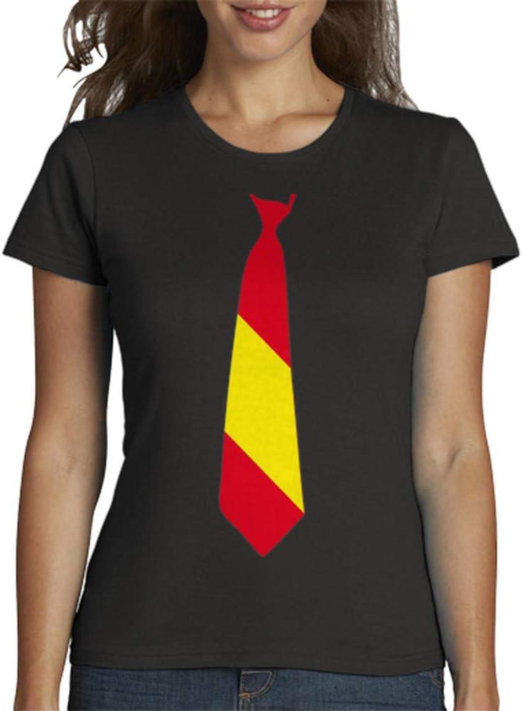 latostadora - Camiseta Corbata Espaa para Mujer Gris Oscuro S ...