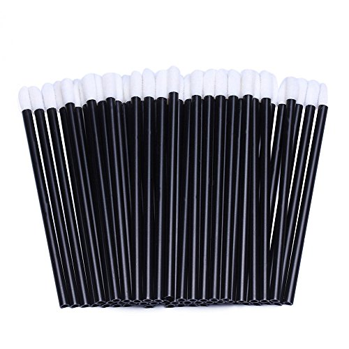 200pcs Disposable Lip Brush Lip Gloss Applicators Lipstick Wands Tool Kits ()