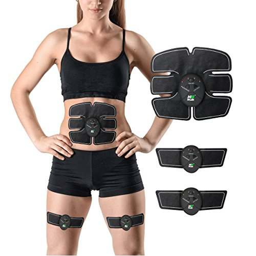 Waist Muscle Toner: Wireless Slim Ab High Fat Burner 6 Pack Fitness Workout Equipment Adjustable Muscle Belly Fat Stimulator For Men & Women - Next Gen Fitness Advanced EMS Abdominal Waist Trainer