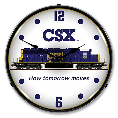 The Finest Website Inc. New CSX Railroad Retro Vintage Style Advertising Bright LED Backlit Lighted Wall Clock - Ships Free Next Business Day to Lower 48 States