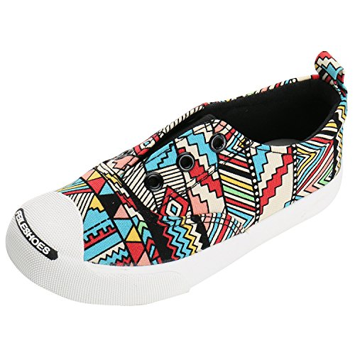 Alexis Leroy Kinder Mehrfarbige Graffiti Turnschuhe Low Top Slipper Sneakers Pink
