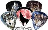Wolves (Wolf) Full Colour Premium Guitar Picks x 5 Medium 0.71