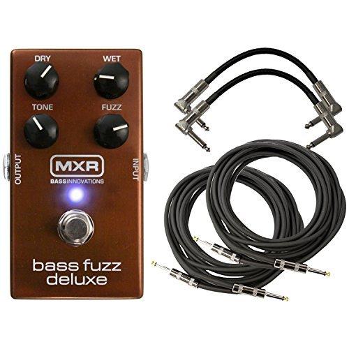 MXR M84 Bass Fuzz Deluxe Pedal Bundle w/4 Free Cables (Best Fuzz Pedal For Blues)