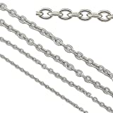 33ft Stainless Steel Rolo Cable Chains Findings Fit for Jewelry Making (SC-1027-A)