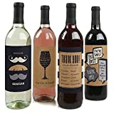 Thank You - Wine Bottle Labels Thank You Gift - Set of 4