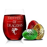 Game Of Thrones Wine Glasses - Mother of Dragons - Novelty Drinking Games - Stemless Wine Glass 15 OZ