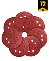 Sanding Discs 72 PCS Hook and Loop 5 In ...