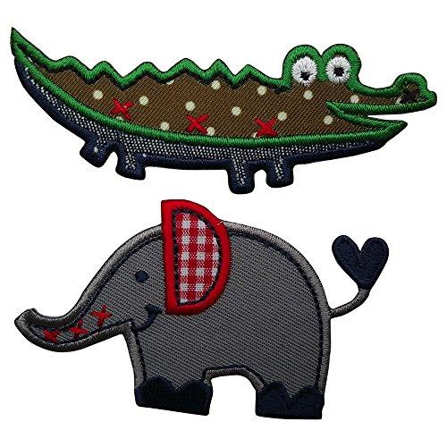 2 Patches Alligator 9X3 Cm Eleph...