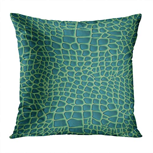 Largest Leather Back Sea Turtle - Lichtion Throw Pillow Cover Print Pattern Crocodile Leather Animal Skin Reptile Seamless Snake Lizard Decorative Home Decor Soft Bedroom Sofa Car Pillowcase Cushion Couch 18 x 18 Inch